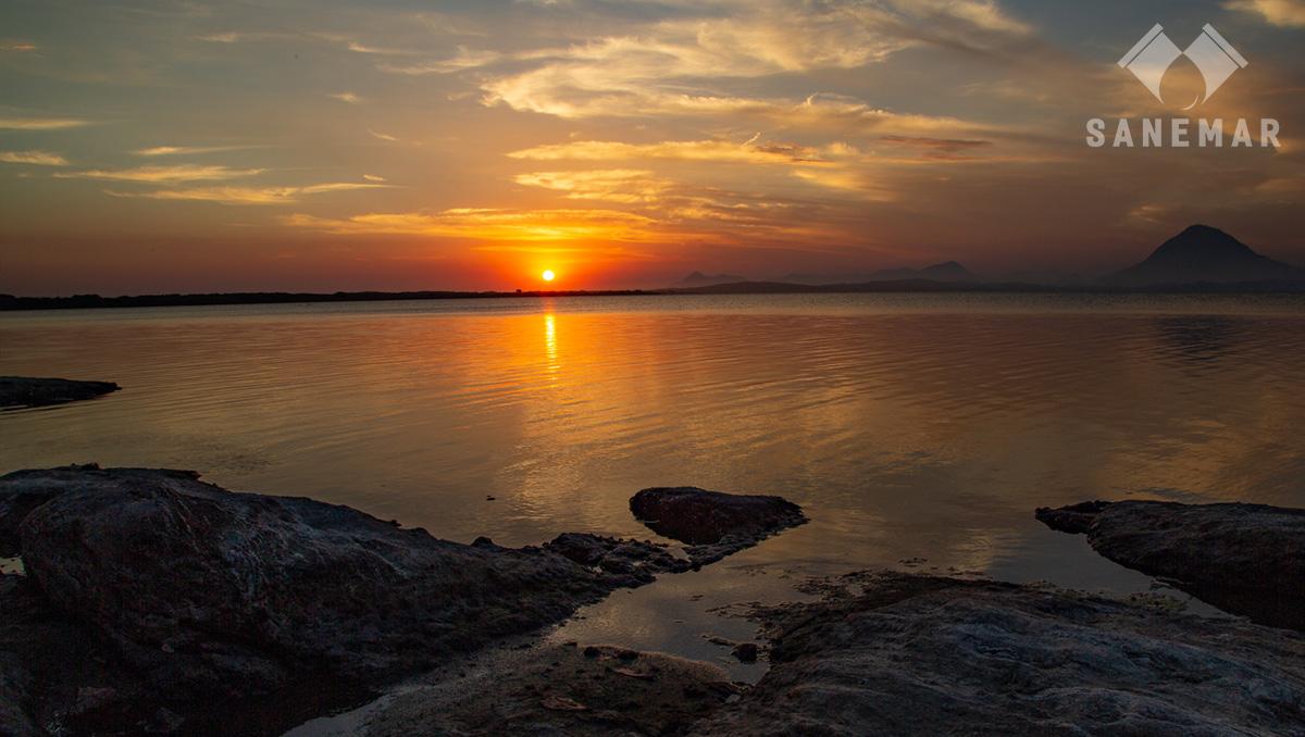 Pôr do sol em Maricá